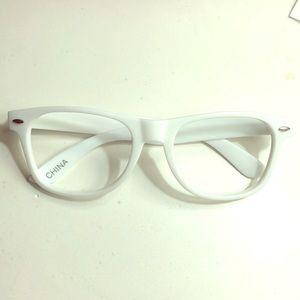 Accessories - White Fake Plastic Glasses